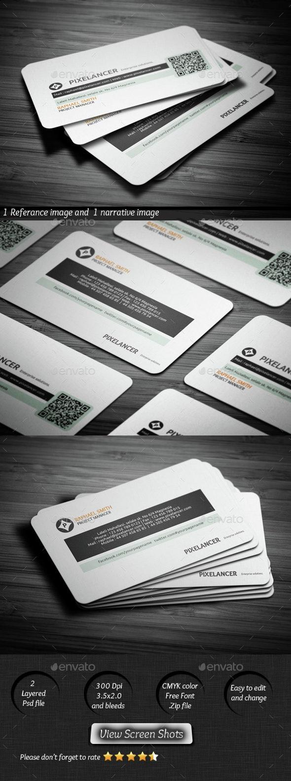 Pixelancer Business Card - Corporate Business Cards