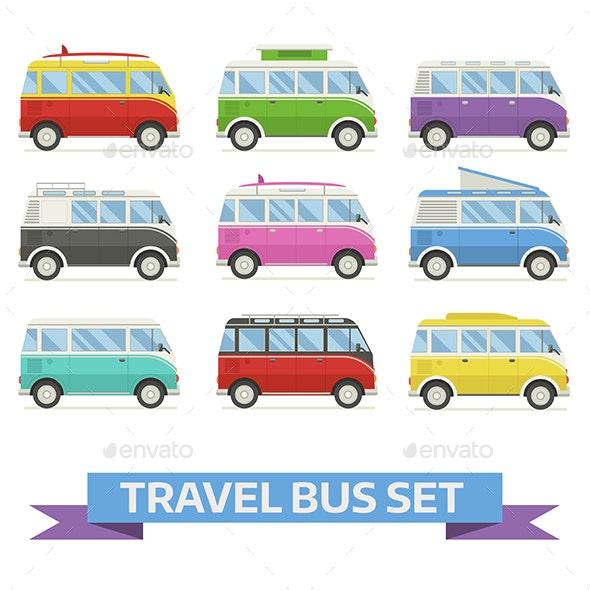 Travel Van Bus Collection - Travel Conceptual