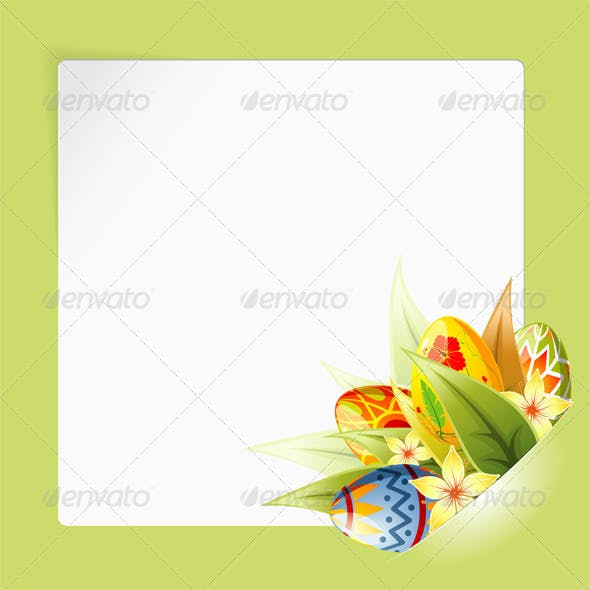 Easter Frame with Sheet Paper mounted in pocket