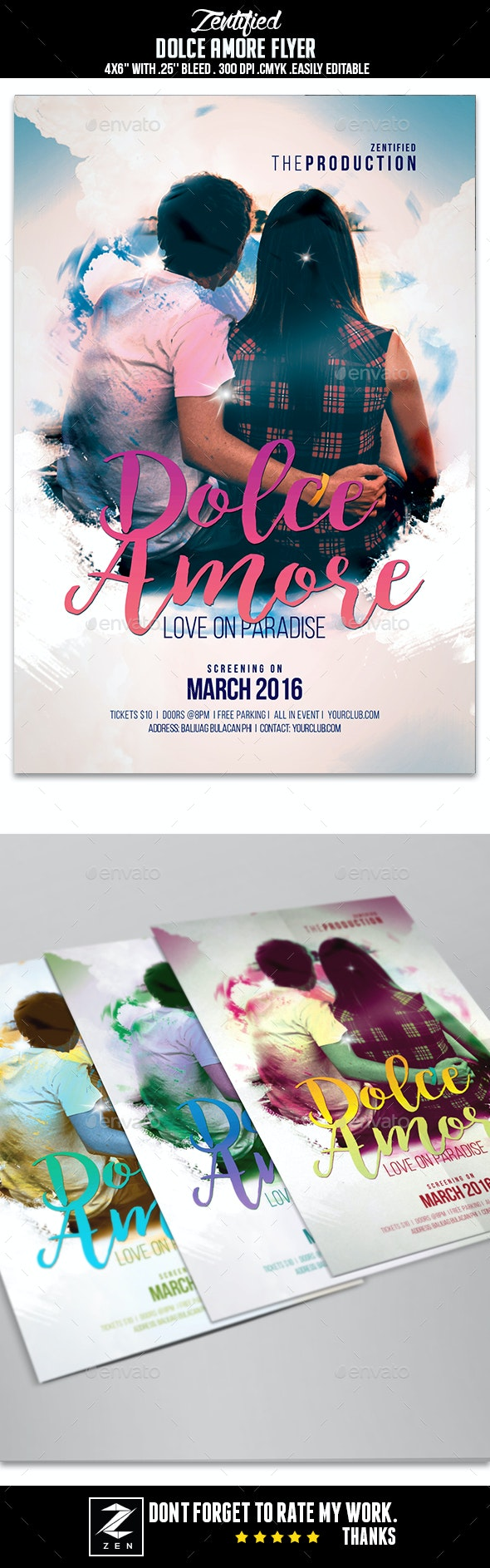 Dolce Amore Flyer - Weddings Cards & Invites