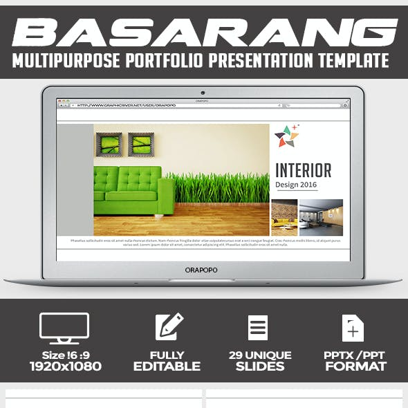 Basarang ~ Multipurpose Portfolio Presentation Template