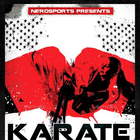 Karate Fight Sports Flyer