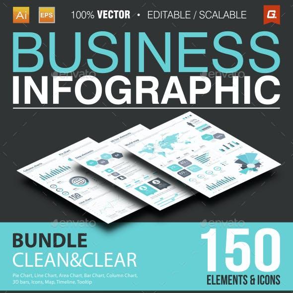 Business Infographic Bundle 150 Elements