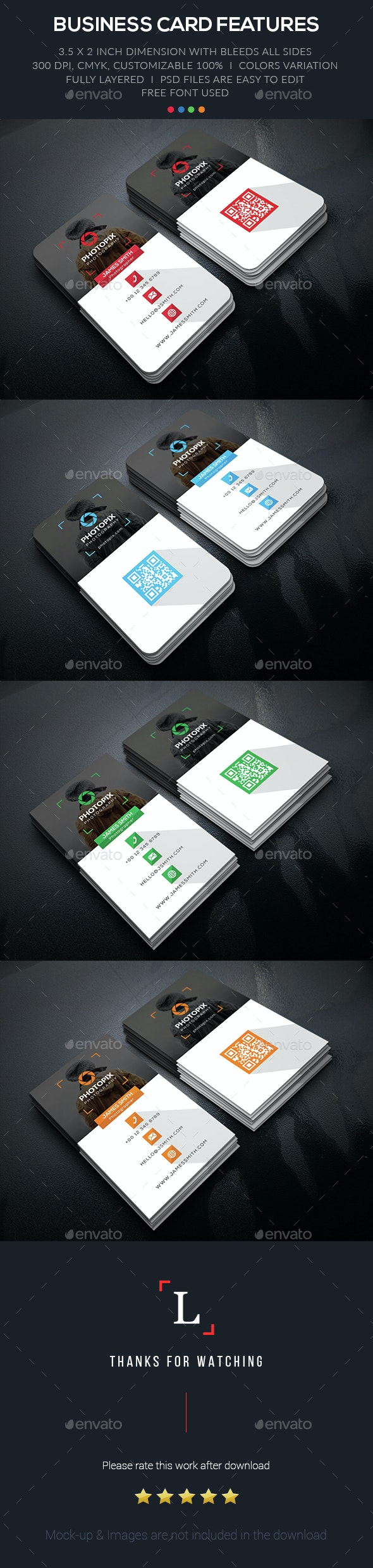 Shadow Photography Business Card - Business Cards Print Templates