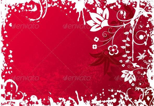 Valentines grunge background - Valentines Seasons/Holidays