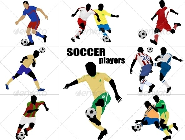 Soccer players silhouette - Sports/Activity Conceptual