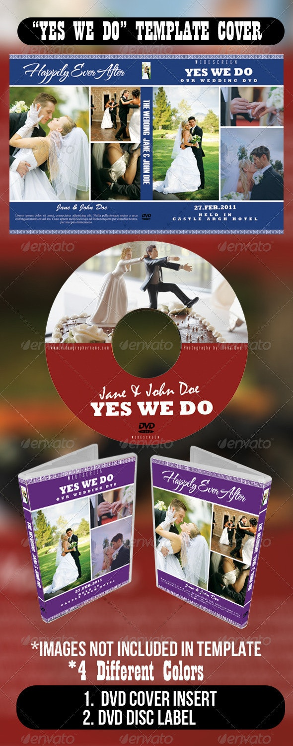 Yes We Do Template Cover - CD & DVD Artwork Print Templates