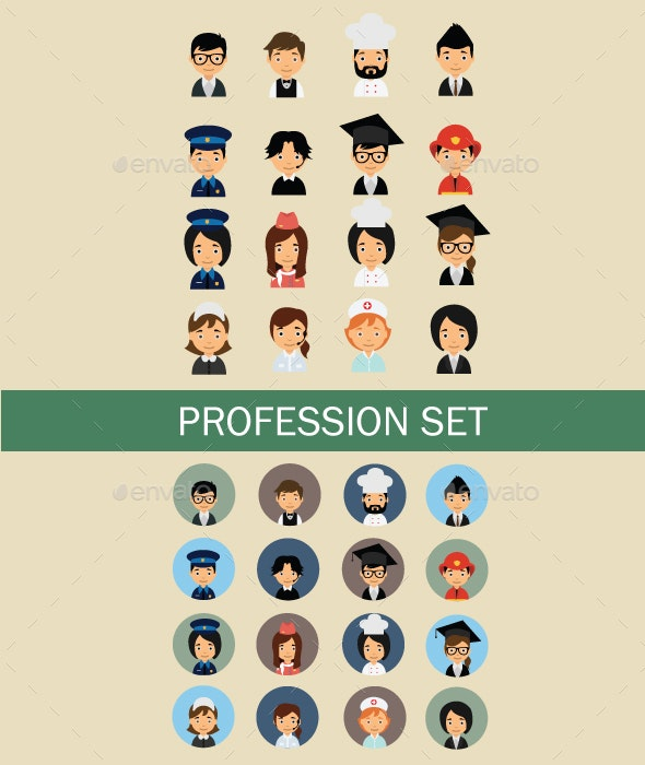 Avatar Profession - People Characters