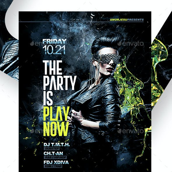 Play Now Flyer Template V2