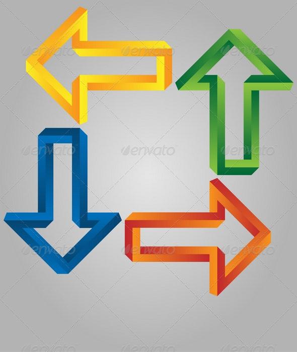 Abstract arrows - Decorative Symbols Decorative