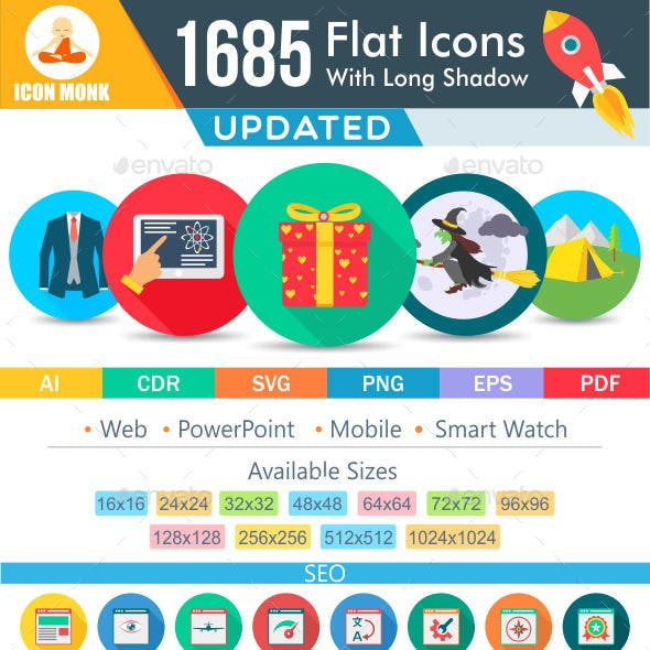 1370 New Flat Icons