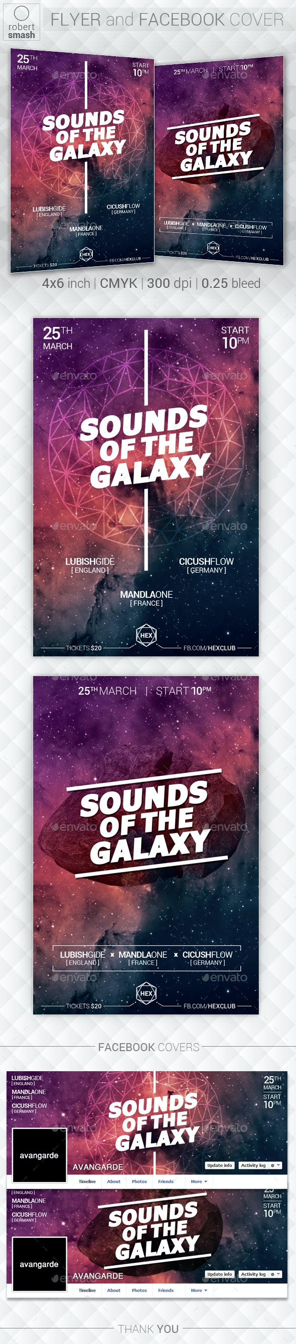 Galaxy Music Flyer - Clubs & Parties Events