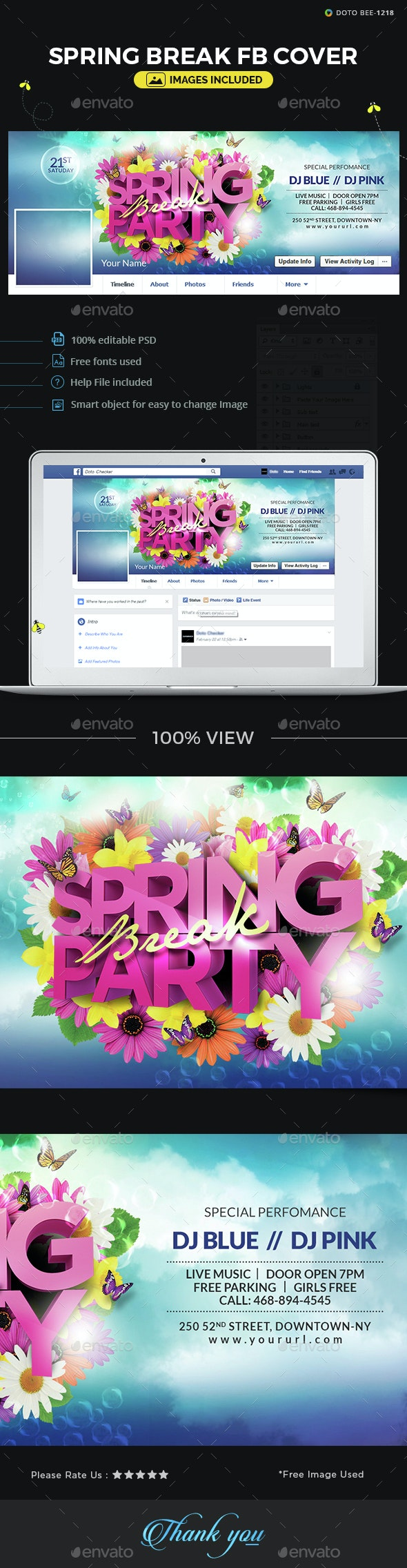 Spring Break Facebook Cover - Facebook Timeline Covers Social Media