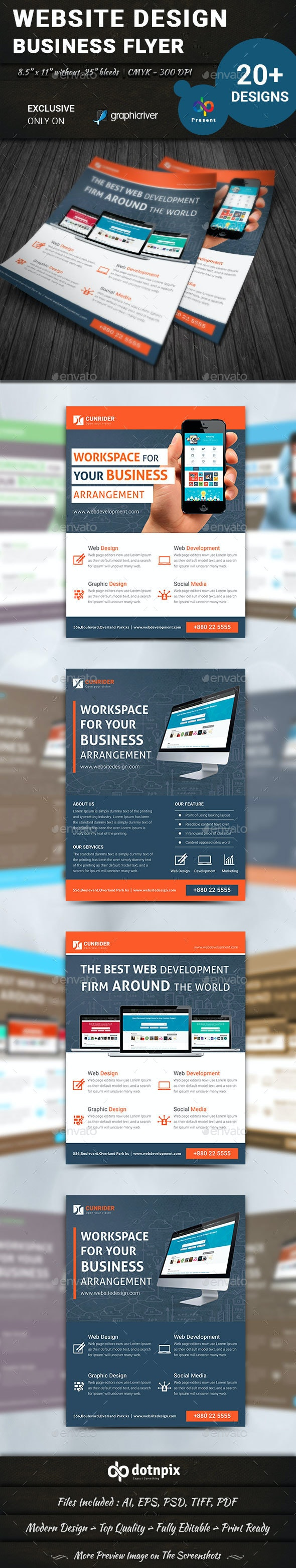 Website Design Flyer - Corporate Flyers