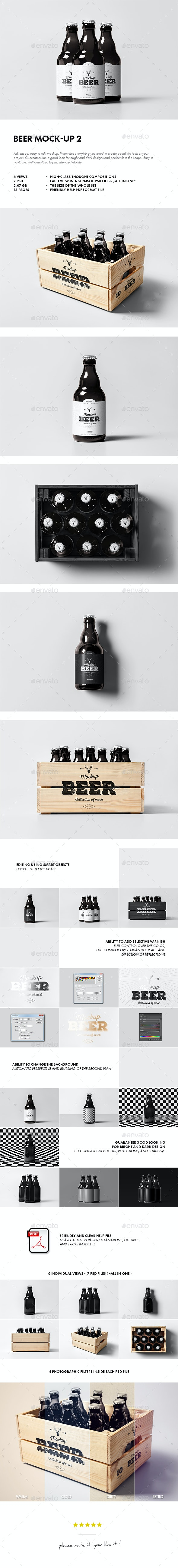 Beer Mock-up 2 - Food and Drink Packaging
