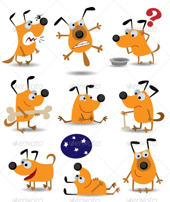 Funny dogs - Animals Characters