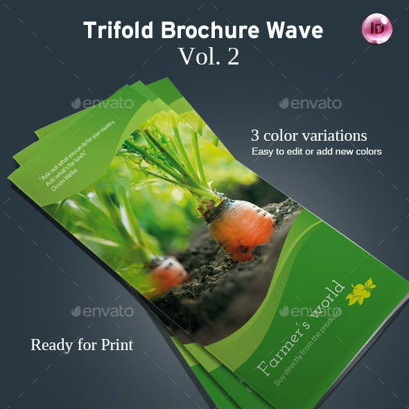 Trifold Brochure Wave Vol. 2