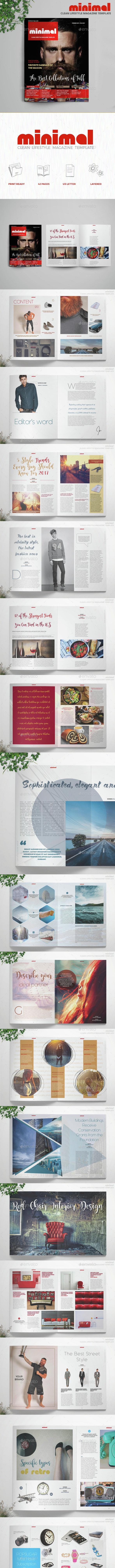 Minimal - Lifestyle Magazine - Magazines Print Templates
