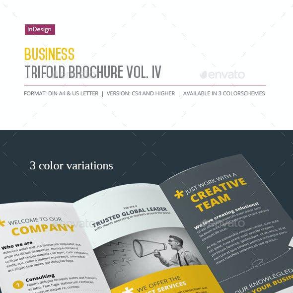 Business Trifold Brochure Vol. IV