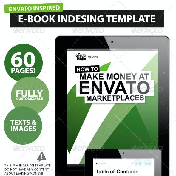 60 pages E-book /Magazine /Book Indesign Template
