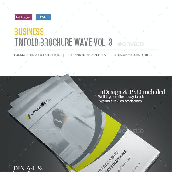 Business Trifold Brochure Wave Vol. 3
