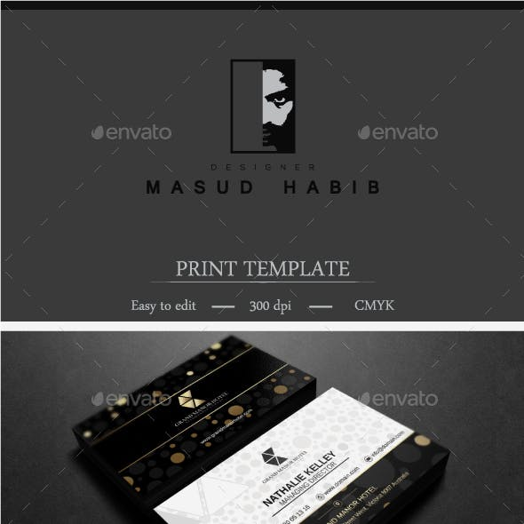 Gold And Black Business Card 4