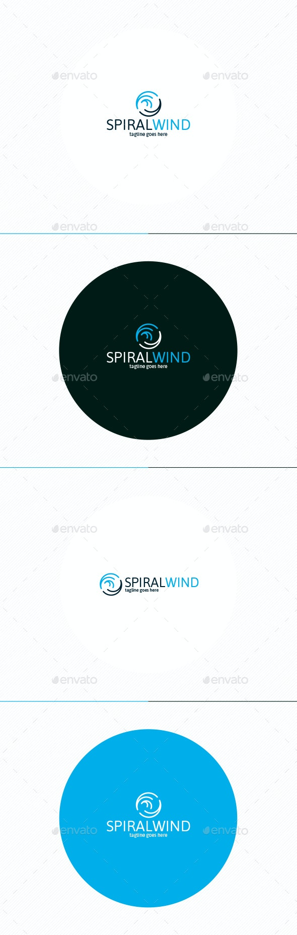 Spiral Wind Logo - Vector Abstract
