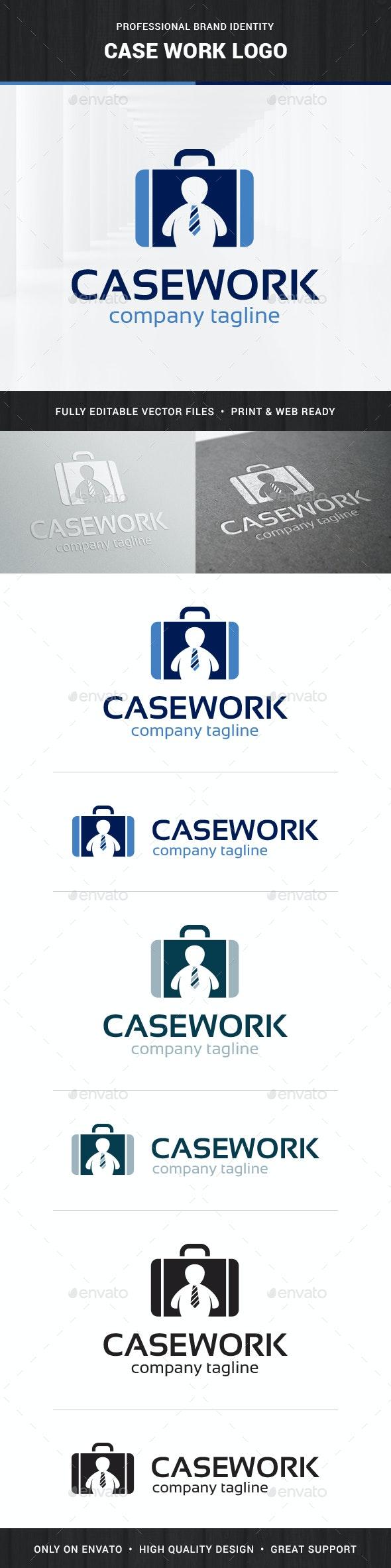 Case Work Logo Template - Humans Logo Templates