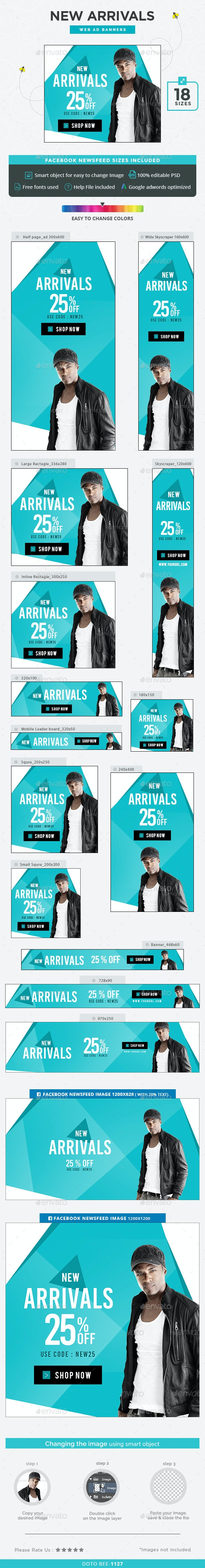 New Arrivals Banners - Banners & Ads Web Elements