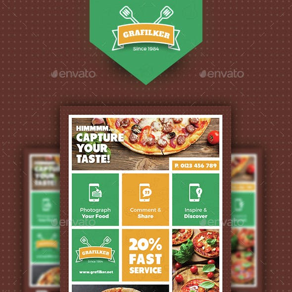 Pizza Shop Flyer Templates