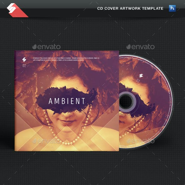 Ambient - CD Cover Artwork Template