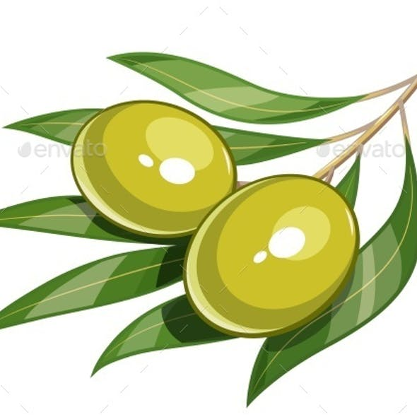 Pair of Green Olives