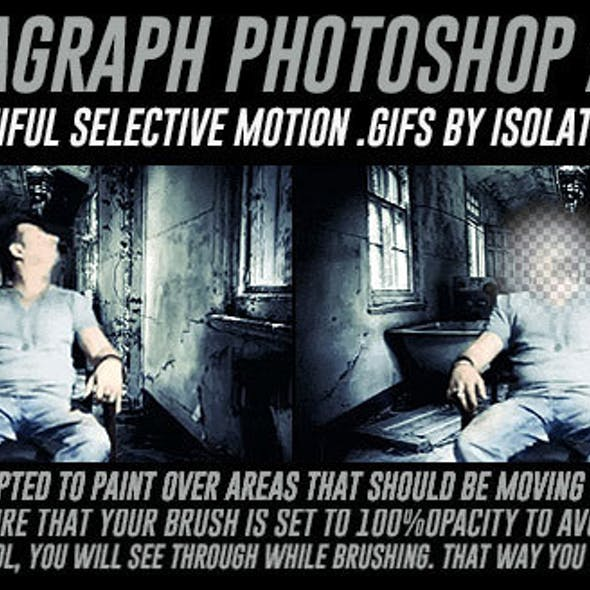 Cinemagraph Photoshop Action with Color Adjustment