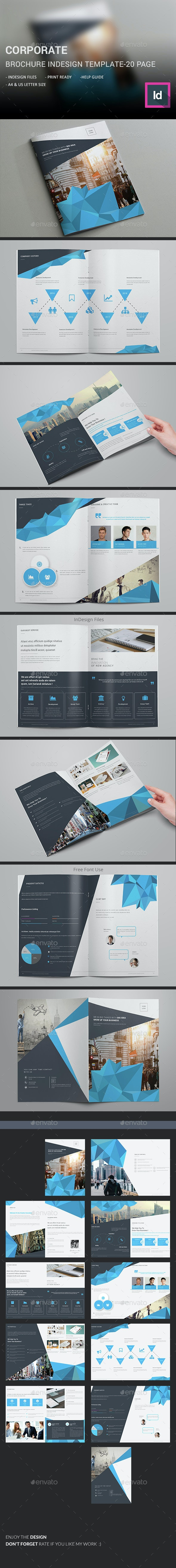 Corporate Brochure InDesign Template  - Corporate Brochures