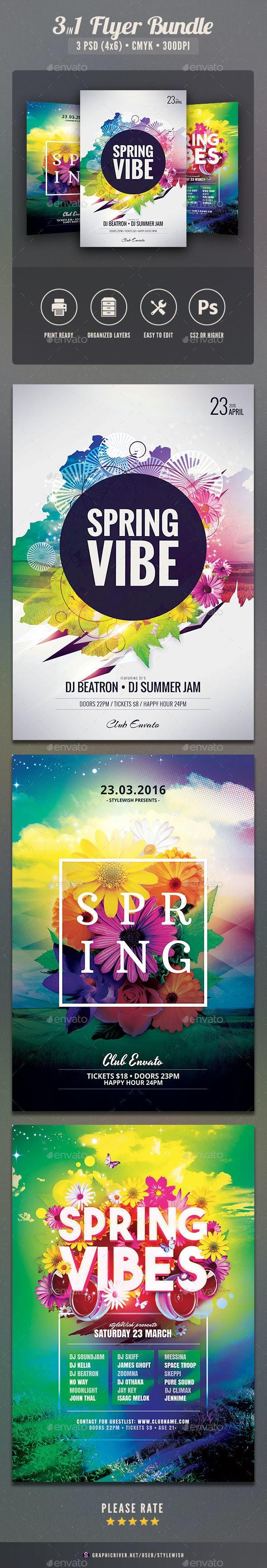 Spring Flyer Bundle Vol.02 - Clubs & Parties Events