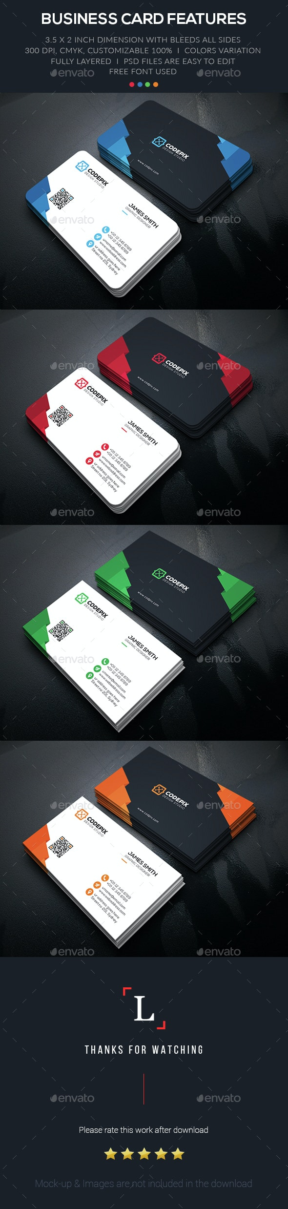 Color Shape Business Card - Business Cards Print Templates