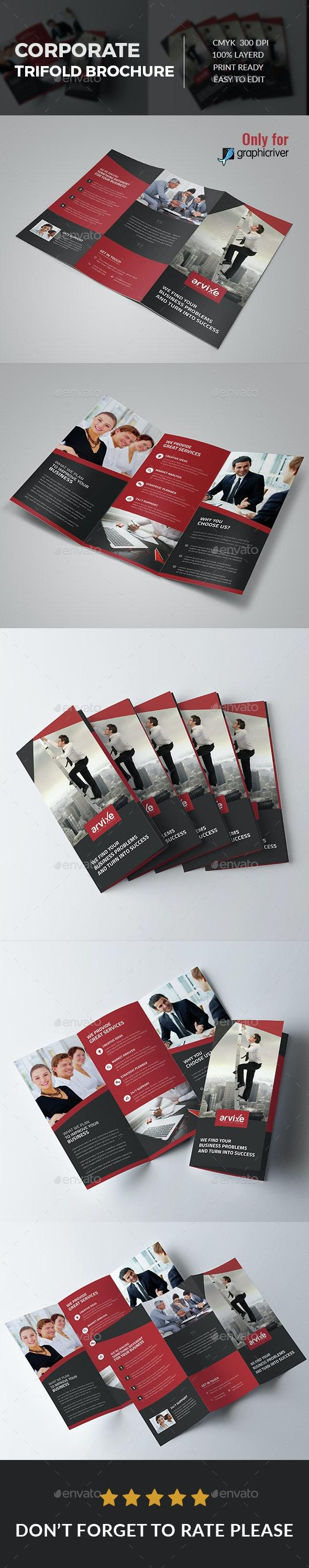 Corporate Tri fold Brochure - Brochures Print Templates