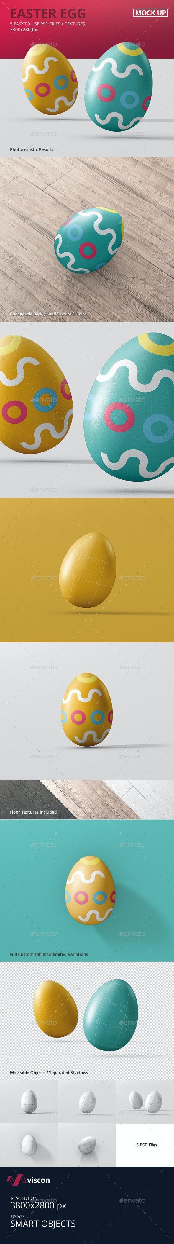 Easter Egg Mock-Up - Miscellaneous Product Mock-Ups