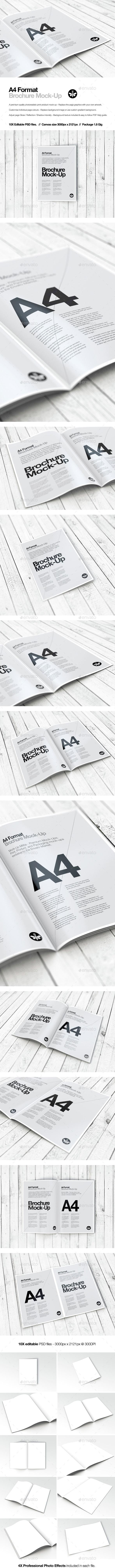 A4 Portrait | Brochure | Booklet | Magazine Mock-Up - Brochures Print