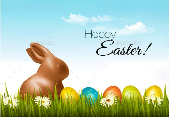Happy Easter Background Easter Eggs - Miscellaneous Seasons/Holidays
