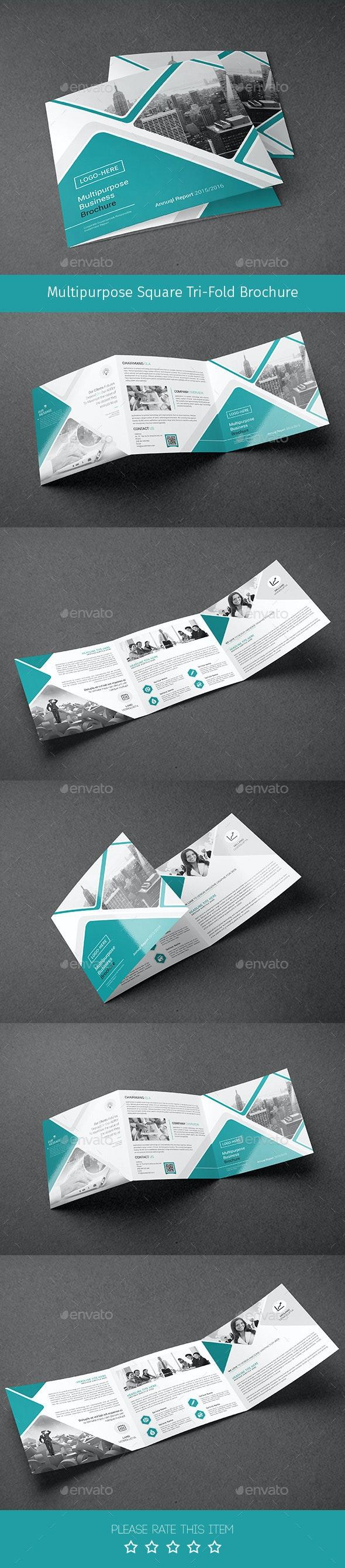 Corporate Tri-fold Square Brochure 02 - Corporate Brochures