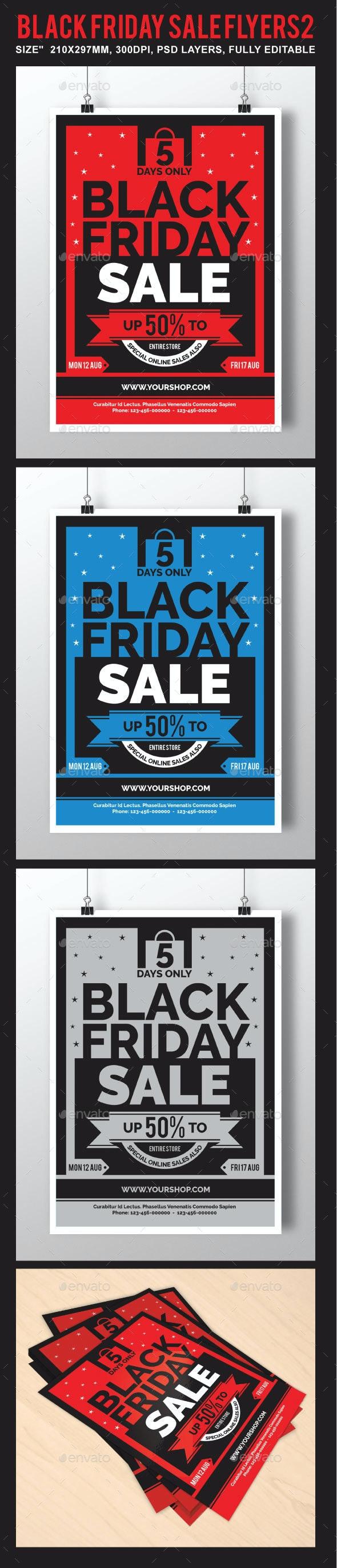 Black Friday Sale Flyer 2 - Holidays Events