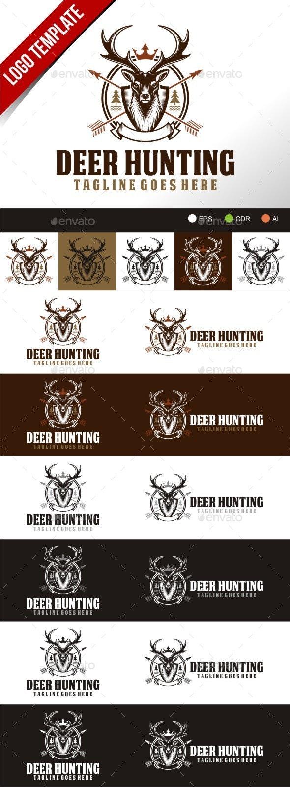 Deer hunting - Animals Logo Templates