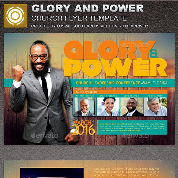 Glory and Power Church Flyer Template