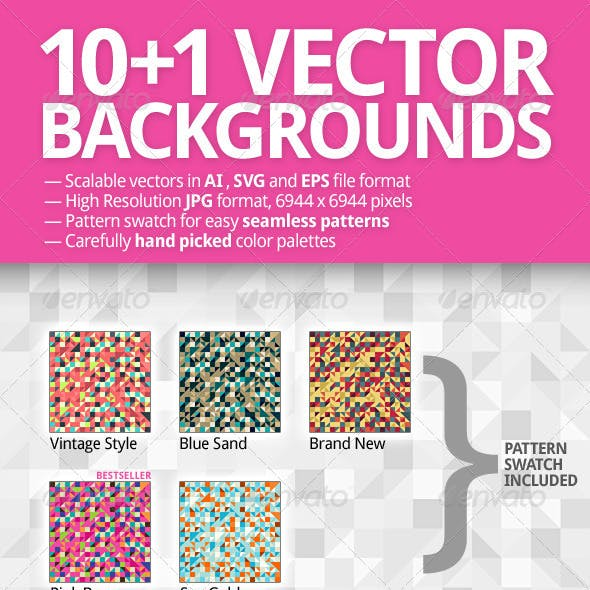 10+1 Vector Backgrounds Pack
