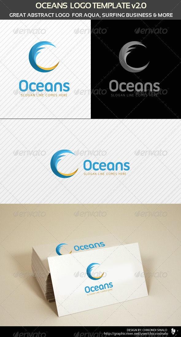 Oceans Logo Template - Abstract Logo Templates