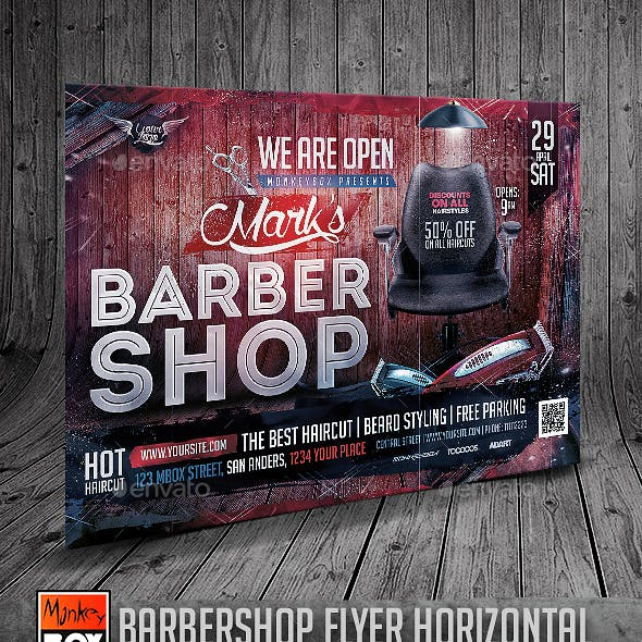 Barbershop Flyer Horizontal