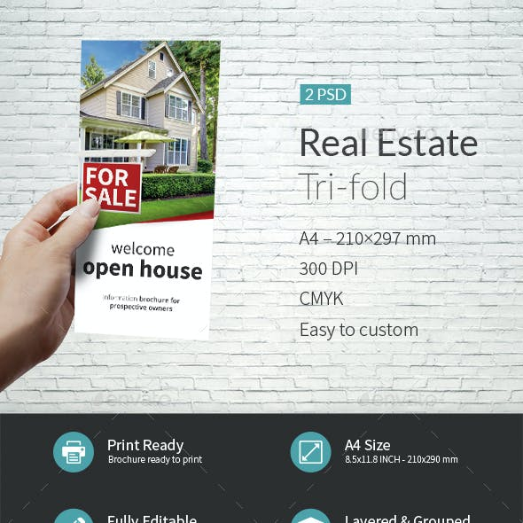 Real Estate Company Tri-fold Template