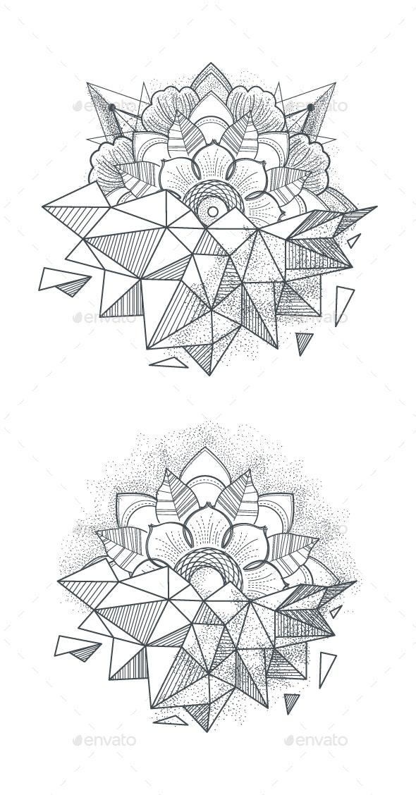 Ornament Round Mandalas - Tattoos Vectors