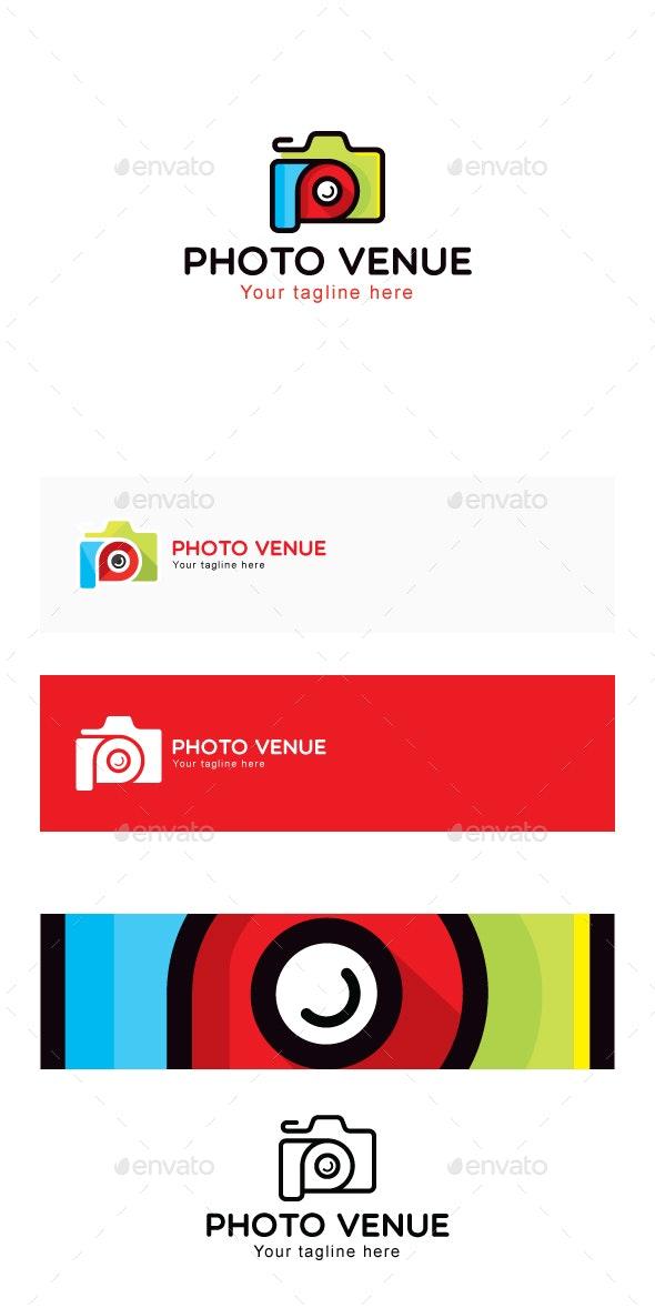 Photo Venue - Photography Studio Stock Logo Template - Abstract Logo Templates